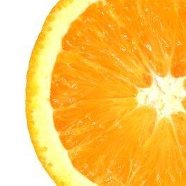 Valokuvassa appelsiini.