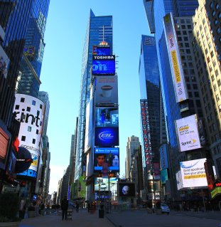 Valokuvassa Time Square, New York.
